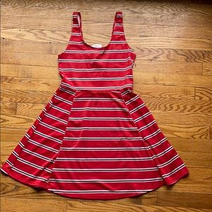 H&M divided striped skater dress size 8 NWT
